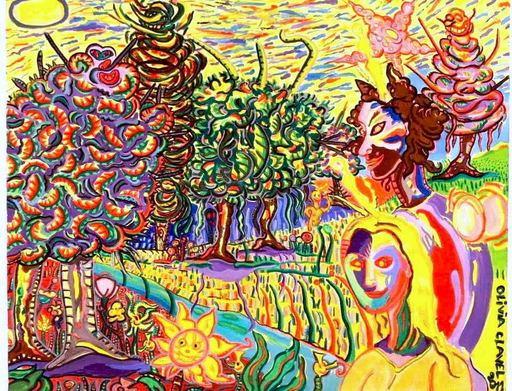 Olivia TELE CLAVEL - Gemälde - Dans l'autre dimension