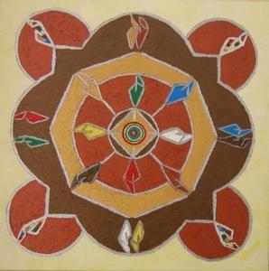 ATCHAMA - Painting - l'homme en équilibre