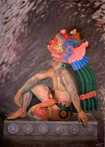 Isabel MORTERA - Pittura - Sacerdote de Xochicalco