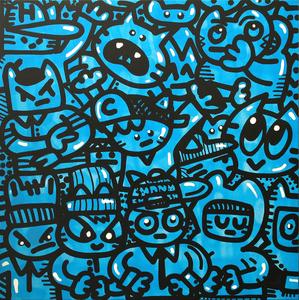 CHANOIR - Painting - Cha Bleu Fluo