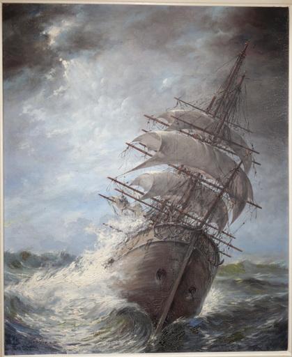 """Léon ZEYTLINE - Painting - """"Avant le Tempéte"""""""