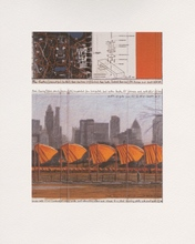 CHRISTO - Estampe-Multiple - The Gates: Project for Central Park, New York City (c)