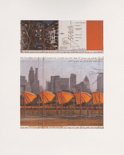 CHRISTO - Print-Multiple - The Gates: Project for Central Park, New York City (c)