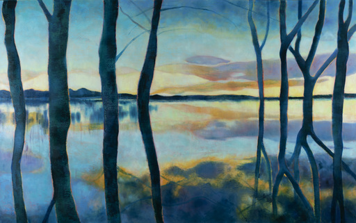 Marie-Pierre AUTONNE - Painting - L'envers du crépuscule