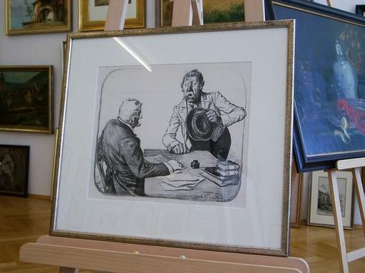 Theodor GRÄTZ - Dibujo Acuarela