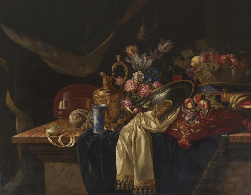 François HABERT - Painting - Nature morte au bouquet de fleurs