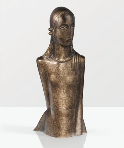 Gustave MIKLOS - Sculpture-Volume - Femme en buste