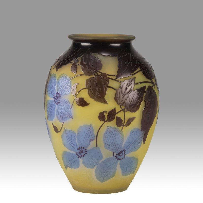 Émile GALLÉ - Blue Clematis Vase