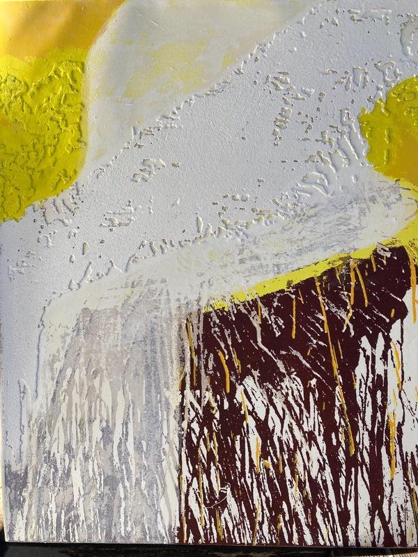 Hermann NITSCH - Print-Multiple - O.T. Motiv V/VI, 2019, Terragrafie