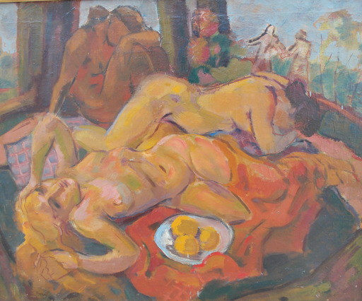 Albert FLOCON - Painting - Dejeuner sur l'herbe
