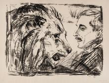 Edvard MUNCH - Grabado - The Lion Tamer