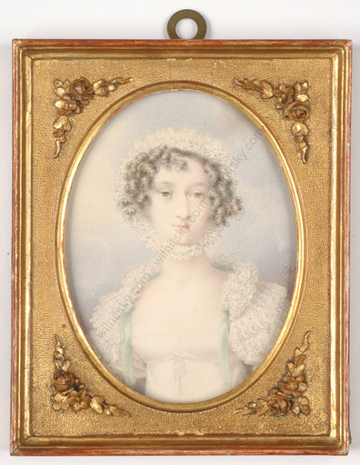 """Johann Nepomuk ENDER - Zeichnung Aquarell - """"Portrait of a young lady"""" watercolor, ca.1820"""