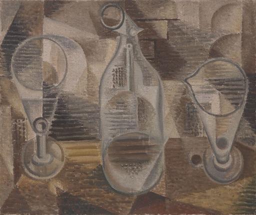 André MASSON - Peinture - Les trois verres cornues