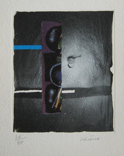 Ladislas KIJNO - Druckgrafik-Multiple - LITHOGRAPHIE FROISSÉE+COLLAGE SIGNÉE CRAYON NUM/40 HANDSIGN