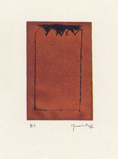 Joan HERNANDEZ PIJUAN - 版画 - Catedral ocre