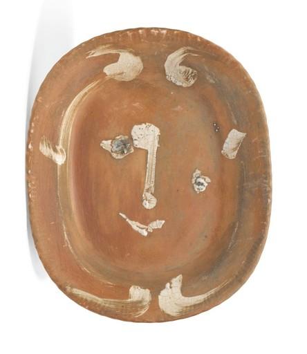 Pablo PICASSO - Ceramic - Esquisse de tête de faune