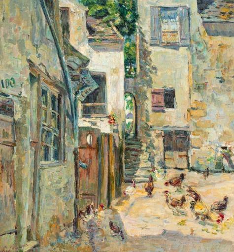 Armand GUILLAUMIN - Pintura - Cour de ferme animée