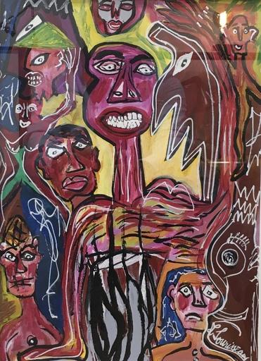 Lionel SOURISSEAU - 绘画 - Les guerriers de la colère à peine étoilée