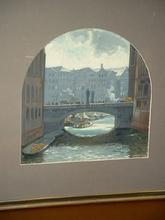 Hans Rudolf SCHULZE - Painting - Hamburg: Die Trostbrücke