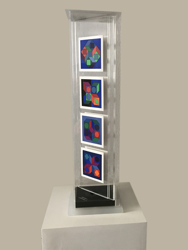 Victor VASARELY - Sculpture-Volume - Lapidaire-2