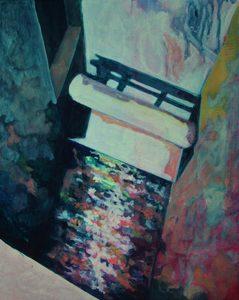 Aude MOUILLOT - Painting - « Focus etang 7 ».