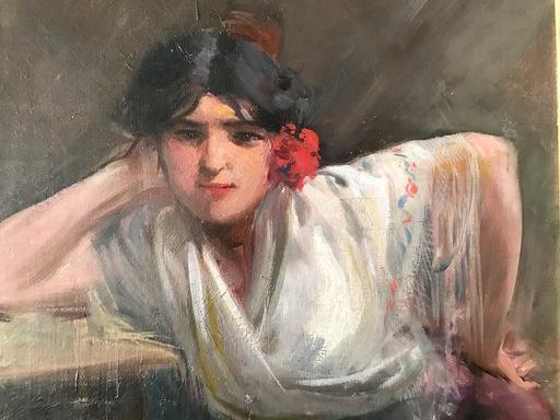 Ulpiano CHECA Y SANZ - Peinture - cantaora -  flamenco - Gitana - Gitane