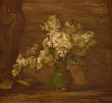 Julijs VILUMAINIS - Painting - White lilac
