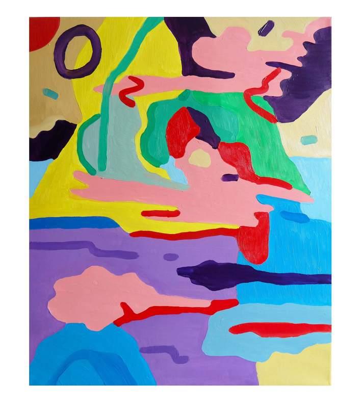 Sébastien COUEFFIC - Painting - Les paysages suspendus 2