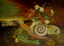 Baruch ELRON - Painting - The Snail