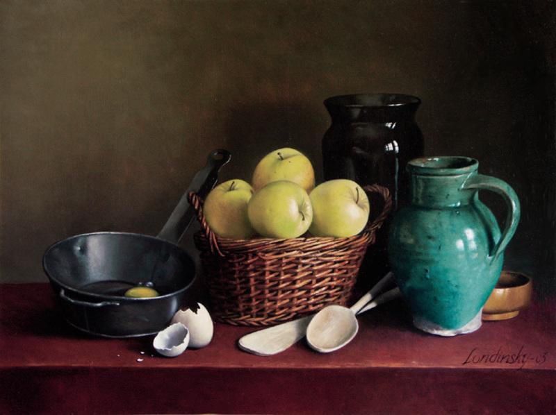 Bernard LONDINSKY - Pintura - Les apprêts d'un déssert gourmand