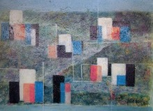 Ibrahim KODRA - Pintura - Nuova urbanistica