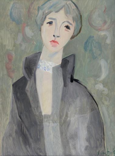 Arthur VAN HECKE - Pittura - Portrait de femme