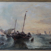 André FONECHE - Gemälde - Paire de marine