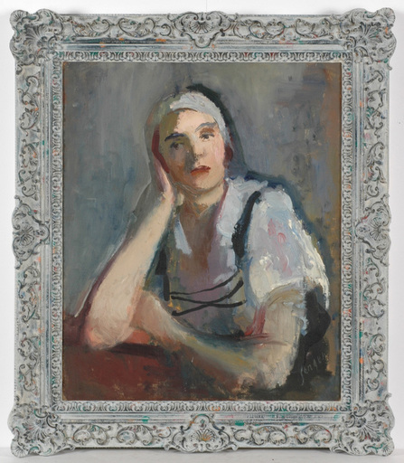 """Frederick SERGER - Painting - rederick Serger (1889-1965) """"Portrait of a Polish girl"""""""