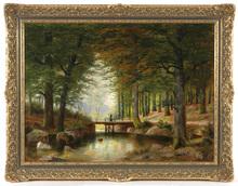 """Alois ARNEGGER - Pintura - """"In Vienna Woods"""" oil on canvas, 1900/10"""