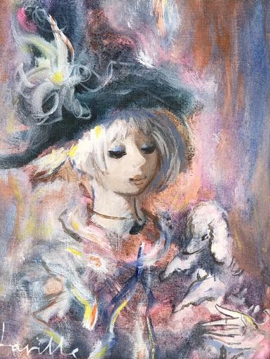 Henri LAVILLE - 绘画 - Le caniche blanc