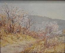 Louis LABRO-FONT - Painting - Visan au pied de la croix
