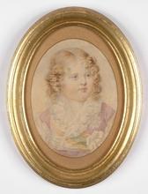 "Jean Baptiste ISABEY (Attrib.) - Miniature - ""Napoleon's Son"", Large Miniature"