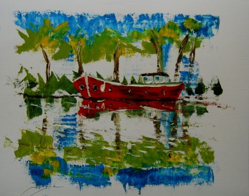 Serge Louis TUQUET - Drawing-Watercolor - Canal du midi (766)