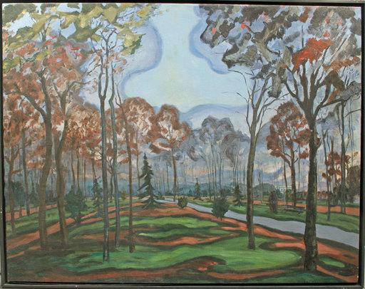 Armand Henri NAKACHE - Pittura - Sous-bois