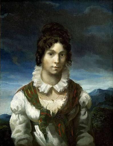 Théodore GÉRICAULT - Painting - Portrait présumé de Madame Elisabeth De Dreux