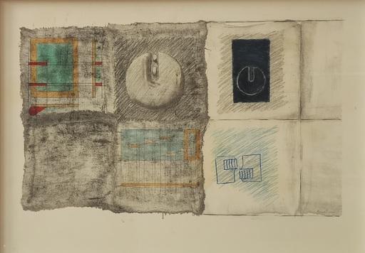 Agostino BONALUMI - Disegno Acquarello - Senza titolo