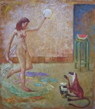 Carlos ESTEBAN - Painting - Salomé (Cat N° 3170)