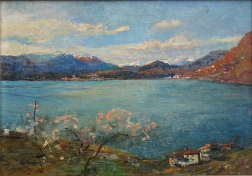 Gioachimo GALBUSERA - Pintura - Lago di Lugano
