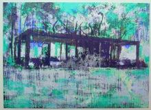 Enoc PEREZ - Grabado - Glass House turquoise