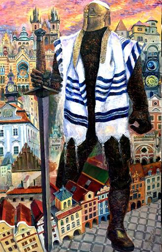 Victor BRINDATCH - Peinture - GOLEM. PRAGUE, CZECH REPUBLIC.