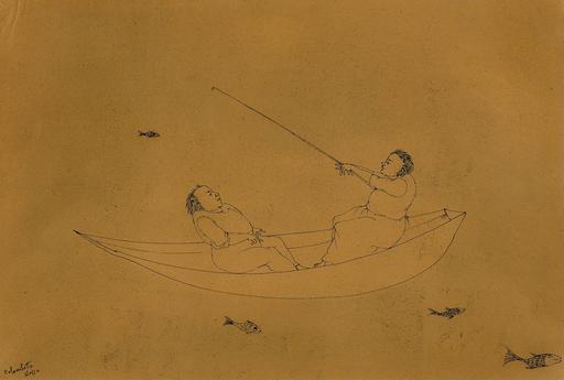 Enrico COLOMBOTTO ROSSO - Gemälde - Pescatori