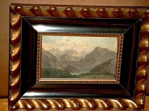 Jennie Augusta BROWNSCOMBE - Painting - Landscape with mountains / Gebirgslandschaft