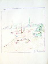 MARKO - Dibujo Acuarela - Paysage méditerranéen