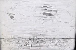 Karl KLUTH - Dibujo Acuarela - Abstrakte Skizze Landschaft